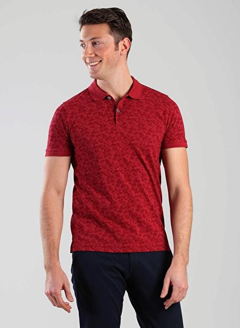 Kip Polo Yaka Tişört Kırmızı